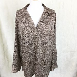 Ann Taylor Animal Printed Button Up Blouse sz. 12